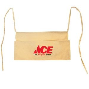 "Natural Cotton Canvas Contractor Waist Apron - 1 Color (17""x7 1/3"")"